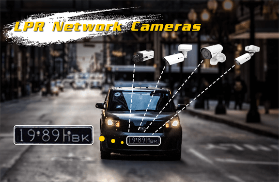 Milesight LPR network cameras to recognize licence plates.