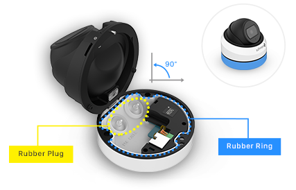Integrated Junction Box, AF Motorized Mini Dome Camera