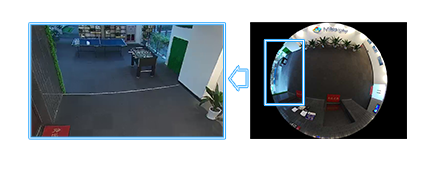User-friendly interface of Milesight 12MP H.265+ Fisheye Network Camera.