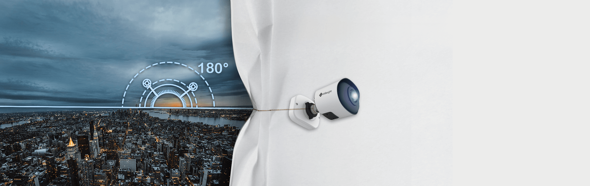 180° Panoramic Mini Bullet Network Camera