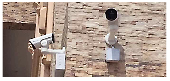 Milesight Network Camera in the outdoor areas.