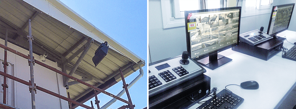 H.265+ Motorized Pro Bullet Network Camera and Central management system in the Jacksons International Airport.