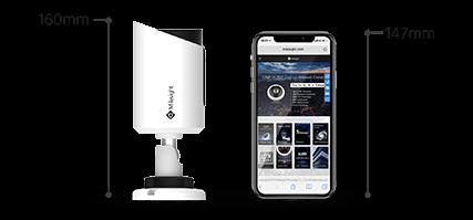Milesight Mini IP Bullet Network Camera with ultra mini size.