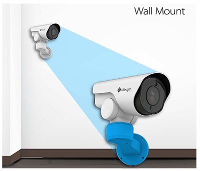 Wall Mount of Milesight Mini PoE PTZ Bullet Network Camera