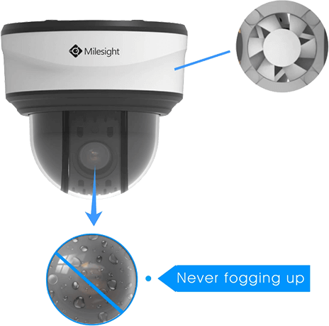 defog design of Mini PTZ Dome Camera